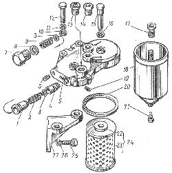ЯМЗ 8401.10 Фильтр тонкой очистки топлива