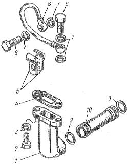 ЯМЗ 8401.10 Трубки подвода и отвода масла турбокомпрессора ТКР-11