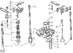 ЯМЗ 8401.10 Клапаны и толкатели