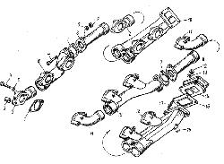 ЯМЗ 8401.10 Газопровод двигателя ЯМЗ-8401.10-03/10-04/10-05/10-06