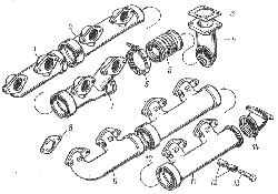 ЯМЗ 8401.10 Газопровод двигателя ЯМЗ-8401.10-01/10-02/10-08/10