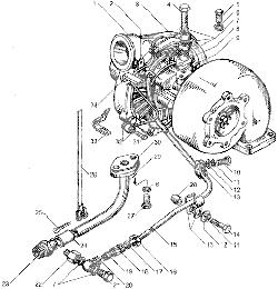 ЯМЗ 7511.10 Трубки подвода и слива масла турбокомпрессора