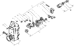 ЯMЗ 236 БE : Корпус регулятора частоты вращения