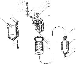 ЯMЗ 236 БE : Фильтр тонкой очистки топлива