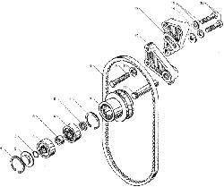 ЯMЗ 236 БE : Устройство натяжное ремня привода водяного насоса