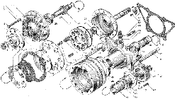 ЯMЗ 236 БE : Привод вентилятора
