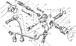 ЯMЗ 236 БE : Включатель муфты привода вентлятора
