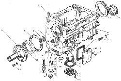 ЯMЗ 236 БE : Картер коробки передач