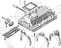 ЯMЗ 236 БE : Механизм переключения передач