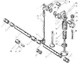ЯМЗ 236 НЕ2 Клапаны и толкатели