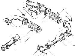 ЯMЗ 236 БE : Коллекторы впускные