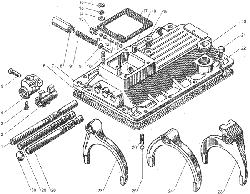 ЯМЗ 236 БЕ2 Валы и шестерни демультипликатора
