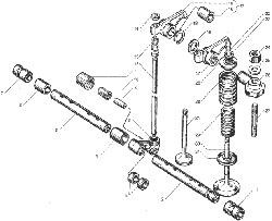 ЯМЗ 236 БЕ2 Клапаны и толкатели