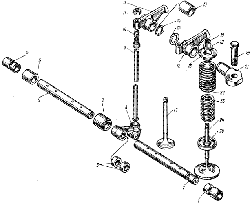ЯМЗ 238 М Клапаны и толкатели