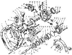 ЯМЗ 7601.10 Валы и шестерни демультипликатора