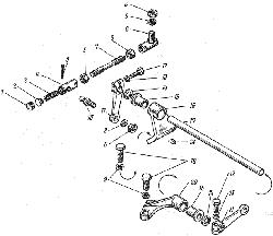 ЯМЗ 8421.10 Привод управления регулятором