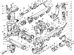 ЯМЗ 8421.10 Трубы и термостаты системы охлаждения