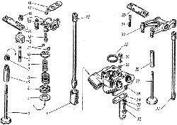 ЯМЗ 8421.10 Клапаны и толкатели