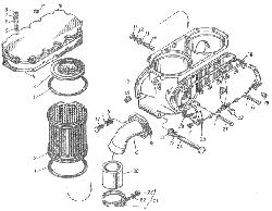 ЯМЗ 8424.10 Трубки подвода и отвода масла турбокомпрессора