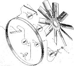 ЯМЗ 8424.10 Валы и шестерни коробки передач