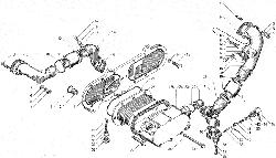 ЯМЗ 850.10 Радиатор водомасляный и радиатор водомасляный гидротрансмиссии