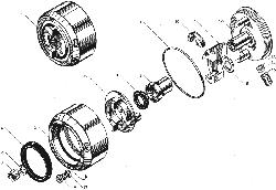 ЯМЗ 850.10 Трубы и термостаты системы охлаждения