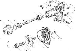 ЯМЗ 850.10 Натяжное приспособление ремня натяжного насоса