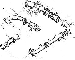 ЯМЗ 850.10 Клапаны и толкатели