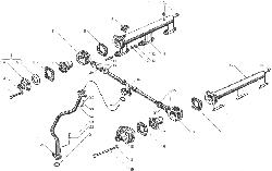 ЯМЗ 238БЕ Водяные трубы и термостаты системы охлаждения