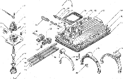 ЯМЗ 238БЕ Механизм переключения коробок передач ЯМЗ 238ВМ5, ЯМЗ 238ВМ7, ЯМЗ 238ВК7