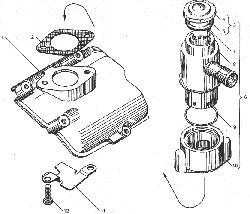 ЯМЗ 238ДЕ Вентиляция картера, двигателя с индивидуальными головками