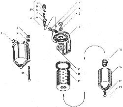 ЯМЗ 238ДЕ Фильтр тонкой очистки топлива