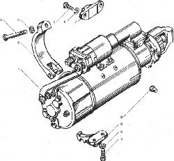 ЯМЗ 238ДЕ-11 Генератор в сборе, его крепление и привод
