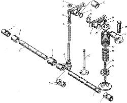 ЯМЗ 238 НД Клапаны и толкатели