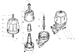 ЯМЗ 238 Б Фильтр центробежной очистки масла