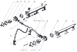 ЯМЗ 238 Б Термостаты системы охлаждения и водяные трубы