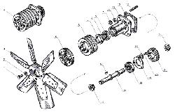 ЯМЗ 238 Б Вентилятор