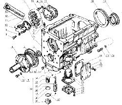 ЯМЗ 238 Б Картер и масляный насос коробки передач ЯМЗ 238М4 и ЯМЗ-238К4