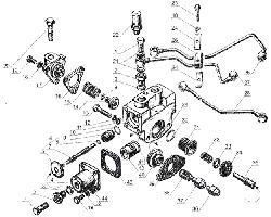 ЯМЗ 238 Б Управление механизмом переключения демультипликатора