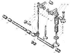 ЯМЗ 238 Б Клапаны и толкатели