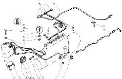 ЯМЗ 238 Д Топливные трубопроводы