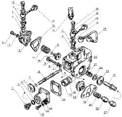 ЯМЗ 238 Д Управление механизмом переключения понижающей пере