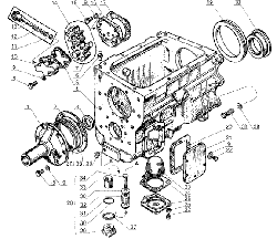 ЯМЗ 238 Д Картер и масляный насос коробки передач ЯМЗ 238М4 и ЯМЗ-238К4