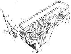 ЯMЗ 240 M2 : Поддон блока цилиндров