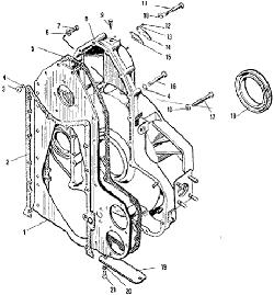 ЯMЗ 240 M2 : Картер маховика