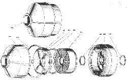 ЯMЗ 240 M2 : Воздушный фильтр