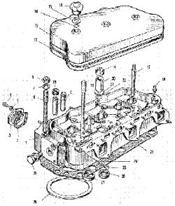 ЯMЗ 240 M2 : Головка цилиндров