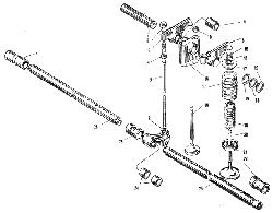 ЯMЗ 240 M2 : Клапаны и толкатели